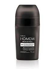 Homem desodorante antitranspirante roll on invisible masculino 75 ml